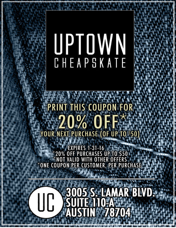 Uptown Cheapskate Coupon